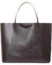 Lyst - Givenchy Antigona Large Shopping Bag in Black 0cfbac223c