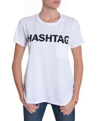 Textile Elizabeth And James Hashtag Bowery Tee - Lyst