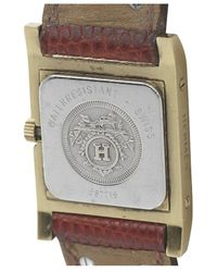 Hermes Pre-owned Red Leath Medor Watch - Lyst