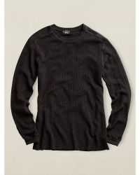 Ralph Lauren Black Textured Crewneck - Lyst