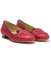 Charlotte Olympia Kitty Loafer - Lyst