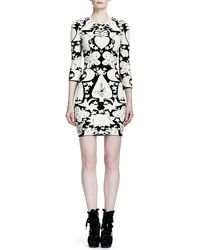 Alexander McQueen 34sleeve Fairy Taleprint Sheath Dress - Lyst