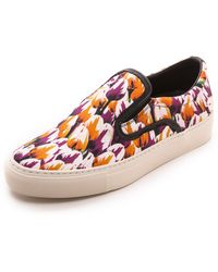 Mother Of Pearl Achilles Slip On Sneakers  Red Tulip - Lyst