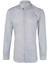 Maison Margiela White Cotton Grandad Shirt - Lyst