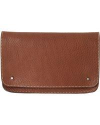 Toast Leather Clutch - Lyst