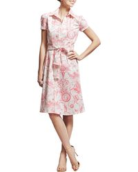 Carolina Herrera Marilyn Toile Belted Shirtdress - Lyst