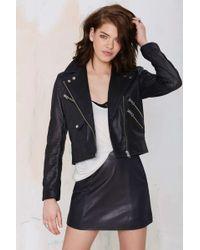 Nasty Gal Revolutionary Leather Moto Jacket black - Lyst