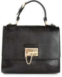 Dolce & Gabbana Lizard Effect Shoulder Bag - Lyst