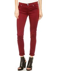 Hudson Nico Mid Rise Super Skinny Jeans Cinnabar - Lyst