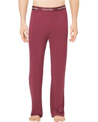 Calvin Klein Red Modal Pants - Lyst