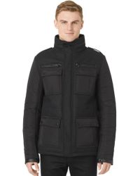 Calvin Klein Wool-blend Quilted Sleeve Coat - Lyst