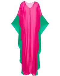 Amanda Wakeley - Color-Block Caftan - Lyst