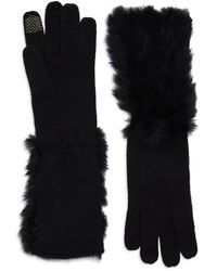 Portolano Rabbit Fur Gloves - Lyst