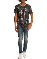 Diesel Falko Military Print Grey T-Shirt - Lyst