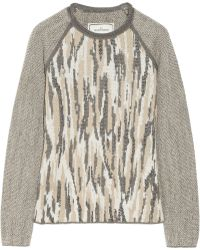 By Malene Birger Malinkaa Metallic Jacquard-knit Sweater - Lyst