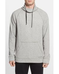 Calvin Klein Cowl Neck Sweatshirt gray - Lyst