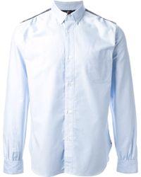 Junya Watanabe Check Panelled Shirt - Lyst
