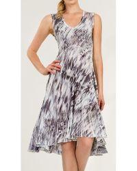 Komarov - Georgette Sleeveless Asymmetrical Dress - Lyst