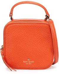 Kate Spade Cecil Court Bobi Satchel Bag Cyber Orange - Lyst
