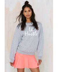 Nasty Gal | Stalker L㨠Hustle Embroidered Sweatshirt | Lyst