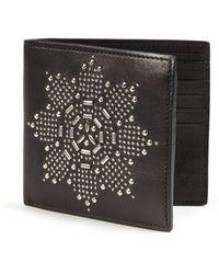 Alexander McQueen   Embellished Leather Billfold Wallet   Lyst