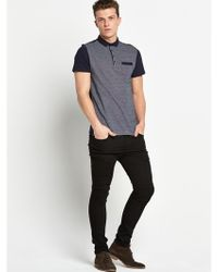 River Island Colourblock Polo Shirt - Lyst
