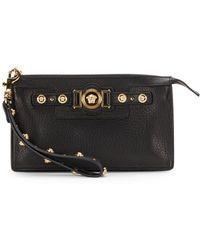 Versace Leather Wristlet Clutch - Lyst