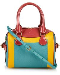 Burberry Prorsum Little Bee Color-Block Leather Cross-Body Bag - Lyst