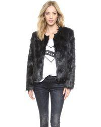 Unreal Fur Furry Floss Jacket  Black - Lyst