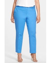 Vince Camuto Slim Ankle Stretch Pants - Lyst