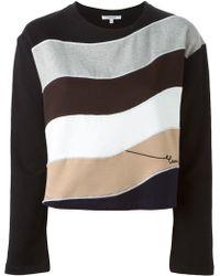 Carven - Colour Block Wave Sweatshirt - Lyst