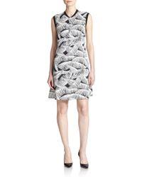Theory Loreese Palm Tree Print Dress - Lyst