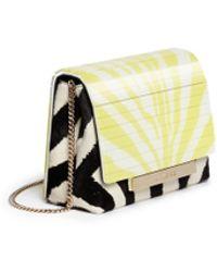 Jimmy Choo Cleo' Zebra Print Pony Hair Shoulder Bag - Lyst