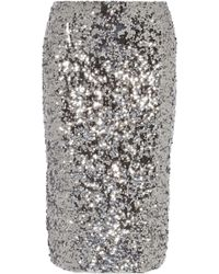 By Malene Birger Poliio Sequined Pencil Skirt - Lyst
