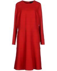Rena Lange Knee-Length Dress - Lyst