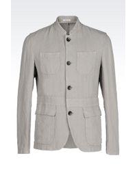 Armani Linen Jacket - Lyst
