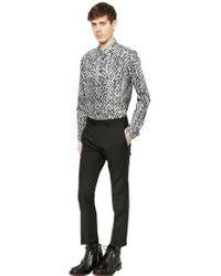 Kris Van Assche - Wool & Mohair Blend Twill Trousers - Lyst