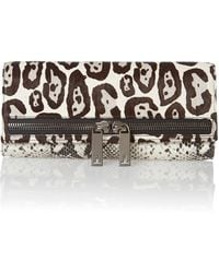 Ted Baker Black Animal Print Clutch Bag - Lyst