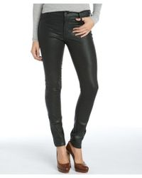 James Jeans Black Emerald Stretch Cotton Coated James Twiggy Skinny Jeans - Lyst