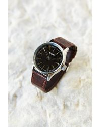 Nixon Sentry 38 Brown Leather Watch - Lyst