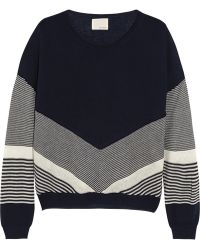 Band of Outsiders   Color-Block Silk And Cashmere-Blend Sweater   Lyst