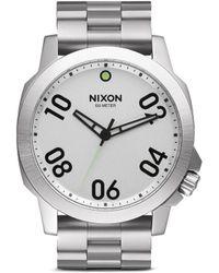 Nixon 'Ranger 45' Watch silver - Lyst