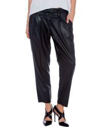 Dwp Drew Crop Coated Pants - Lyst