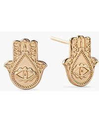 ALEX AND ANI 'Symbolic - Hand Of Fatima' Stud Earrings - Lyst