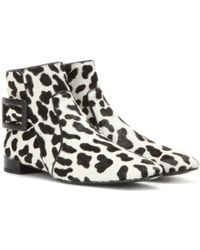 Roger Vivier Polly Calf Hair Ankle Boots - Lyst