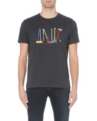 Paul Smith Axe-print Cotton-jersey T-shirt - Lyst