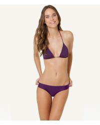 ViX Solid Berry Triangle Top Hipster purple - Lyst