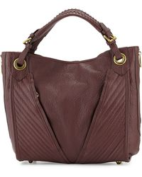 orYANY Erin Quilted Leather Tote Bag brown - Lyst