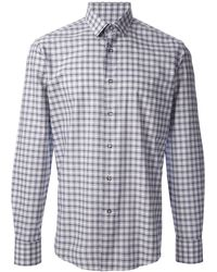 Lanvin Blue Printed Shirt - Lyst