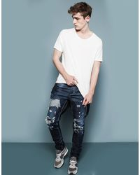 Pull&Bear Super Skninny Fit Jeans - Lyst